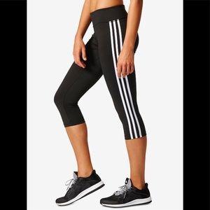 Adidas Three Stripes Climalite Cropped Legging
